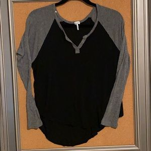 Splendid XS baseball shirt black & grey